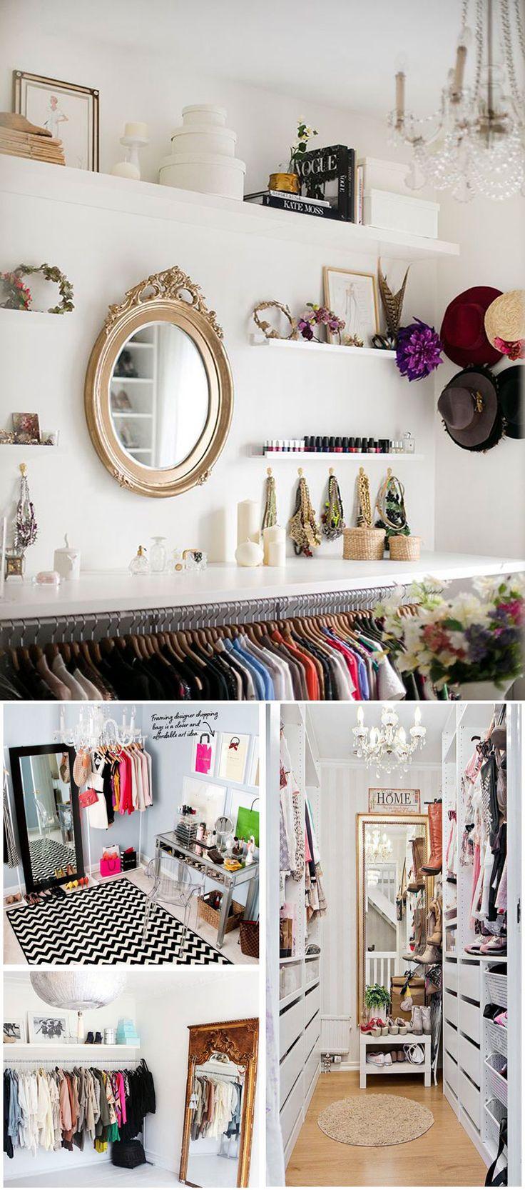 4 Dicas fáceis, simples e baratas para decorar e organizar o closet gastando pouco! São ideias que a gente reproduz sem ter trabalho e sem gastar muito!