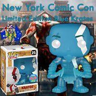 New York Comic Con EXCLUSIVE Rare #25 Blue Kratos Pop! Vinyl Limited Edition
