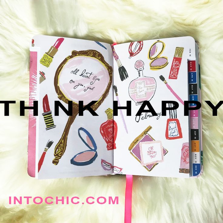 Think happy. Beauty and cosmetics make a girl happy.