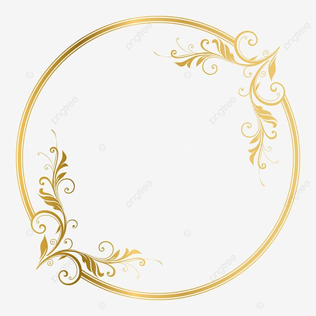 Elegant Circle Golden Frame Ornament Vector Illustration Swirl Ornate Element Png And Vector With Transparent Background For Free Download Gold Circle Frames Ornament Frame Blue Background Wallpapers