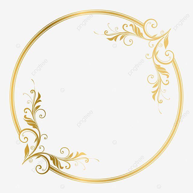 Elegant Circle Golden Frame Ornament Vector Illustration Swirl Ornate Element Png And Vector With Transparent Background For Free Download Gold Circle Frames Ornament Frame Circle Frames