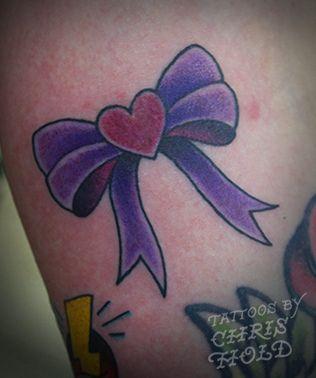 Heart & Bow Tattoo