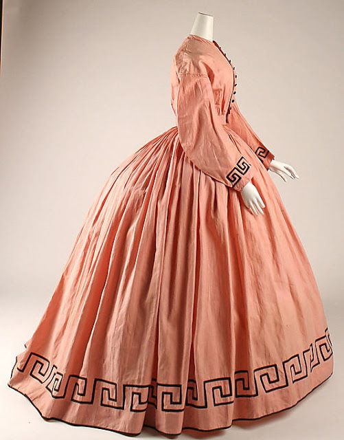 Dress  Date: ca. 1862  Culture: American  Medium: cotton, wool  Dimensions: Length at CB (a): 14 1/2 in. (36.8 cm) Length at CB (b): 45 in. (114.3 cm)  Credit Line: The Jacqueline Loewe Fowler Costume Collection, Gift of Jacqueline Loewe Fowler, 1981  Accession Number: 1981.149.1a, b  Metropolitan Museum of Art