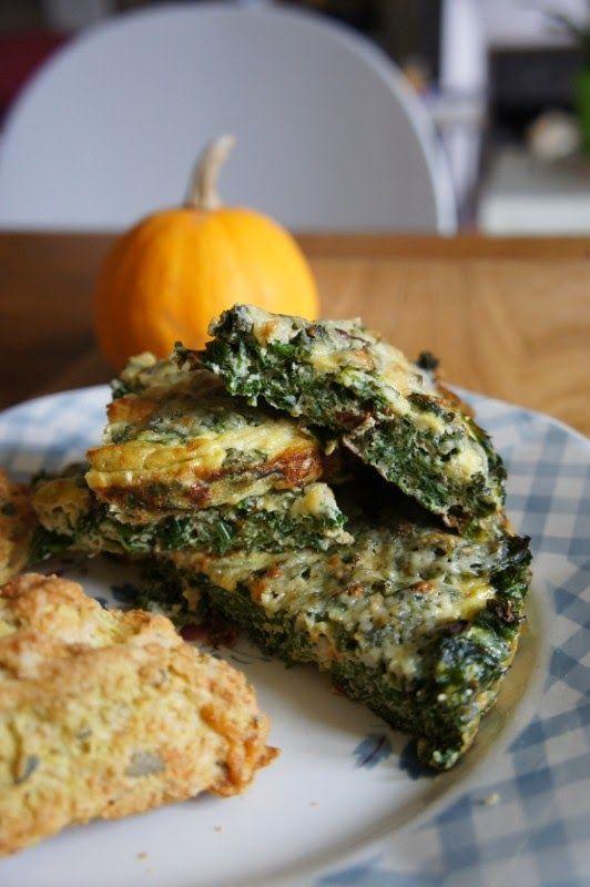 Gourmandises et Merveilles: Frittata au kale, cheddar et piment chipotle