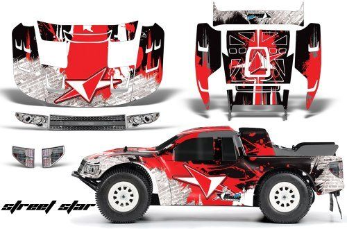Ford F150 SVT Raptor-FLO-TEK-Decal Kit Fits:Traxxas Slash,Slash 4x4,SC10,Ultima SC & Blitz-(PRO-3366-00)-AMRRACING-RC Graphics Kit-Street Star-Red by AMRRACING. $39.95. AMR RC Kits very Easy to install.. Graphics kit it new in sealed manufactures packing.. Listing includes graphics kit only, body not included.. AMR Racing RC kits are made from Thick Motocross quality vinyl. 98% Body coverage-Need Base coat of Paint. AMR Racing RC kits are made from Thick Motocross quality vinyl....