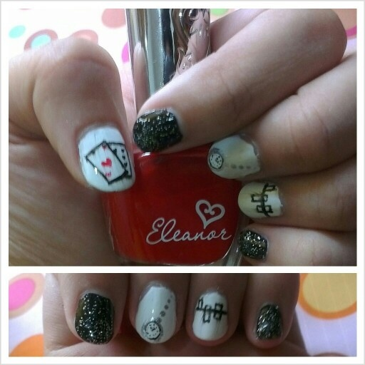 The closer you look, the less you will see, now you see me inspired Nail Art