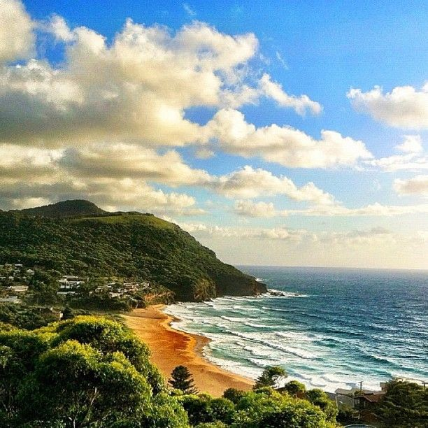 Stanwell Park Beach-You pass this on the train from Wollongong to Sydney...it is as beautiful as it looks in this picture.  #welovethegong