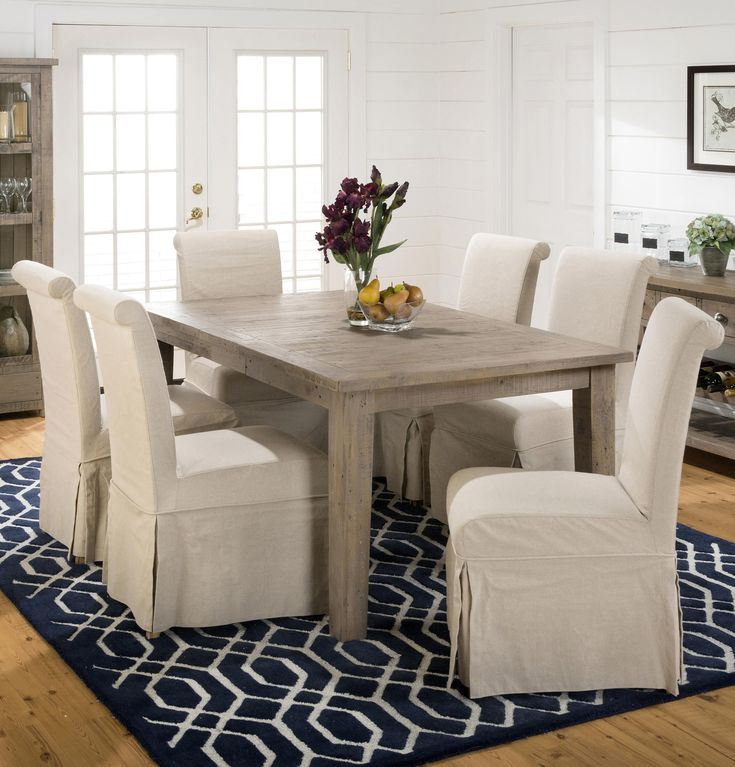 Mesmerizing Shabby Chic Dining Room Chair Covers Images - 3D house ...