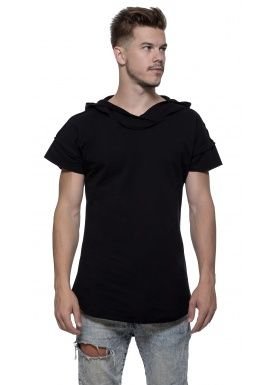 Short sleeve hoody black