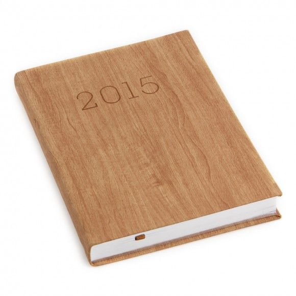 A5 warm wood day to a page diary 2015