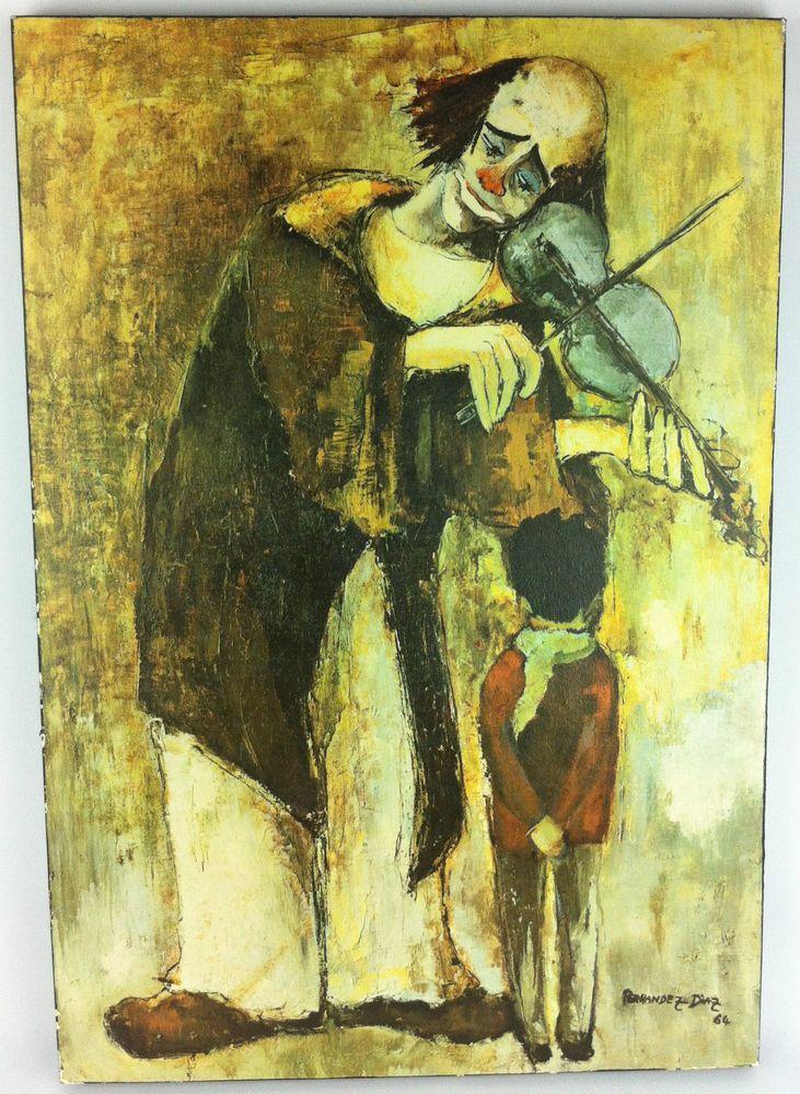 vintage rare Fernandez Diaz clown with child 24