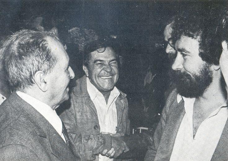 Com o Aldo Lins e Silva e Fernando Morais.  1980