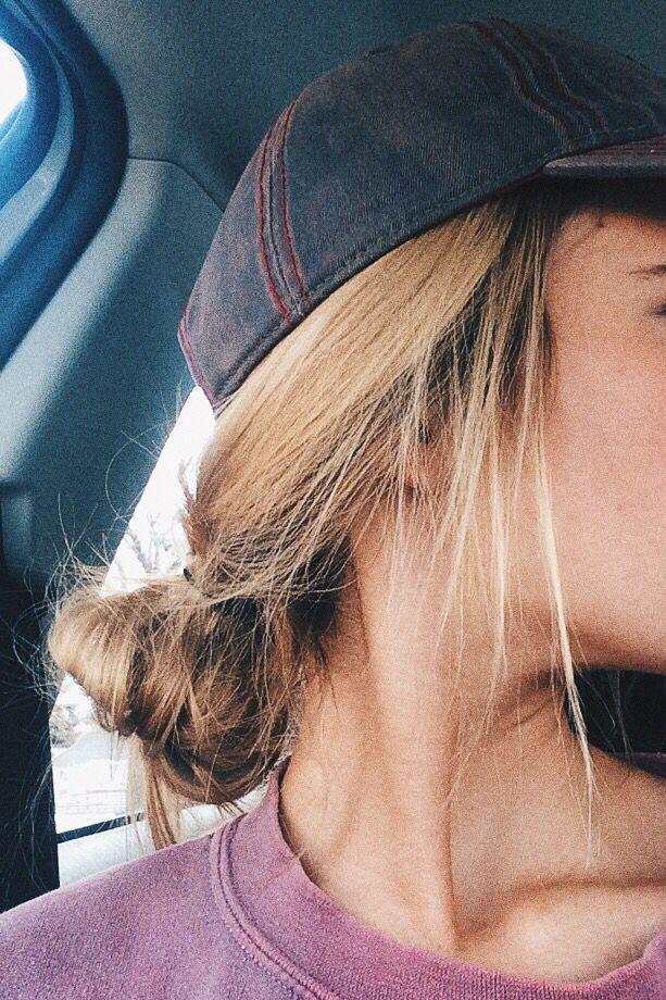 messy bun, hat & oversized sweater> username: kennathoms16