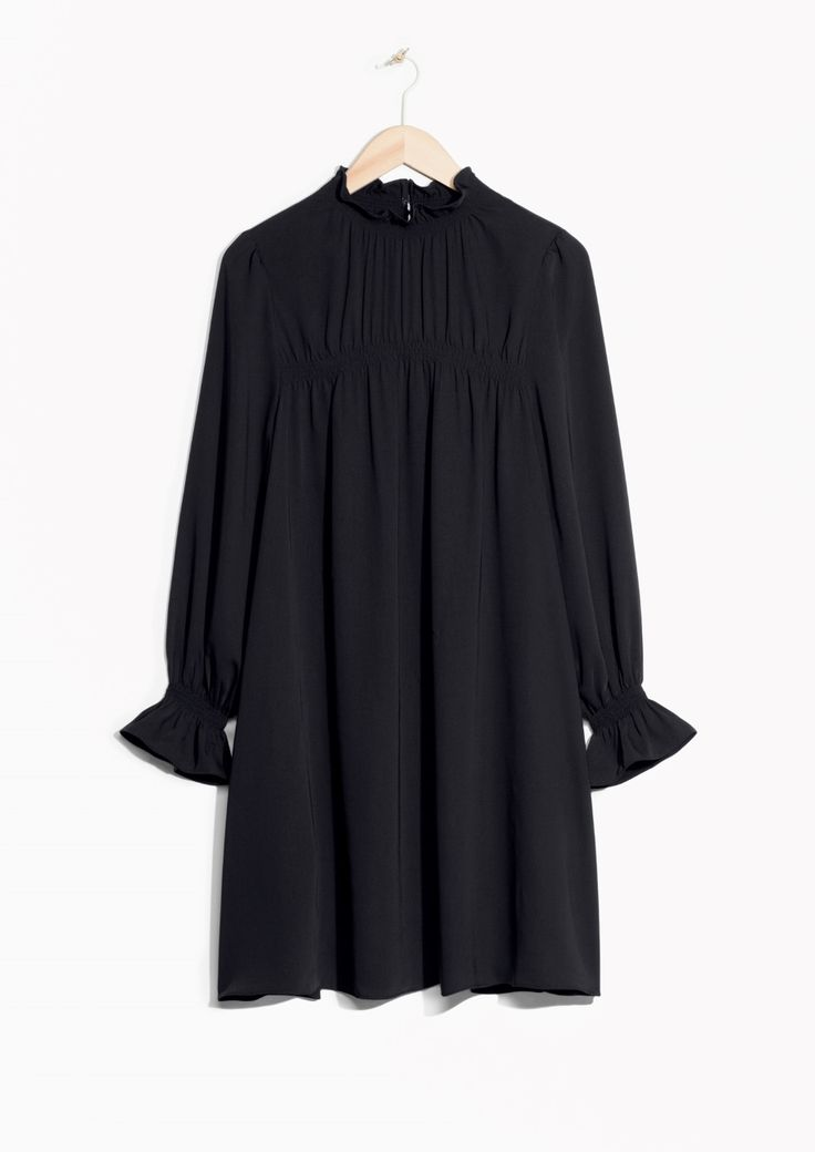 & Other Stories image 1 of Smock Dress  in Black