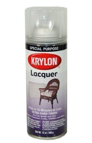 Krylon 7032 Lacquer Spray Paint, 12 Oz, Clear Gloss