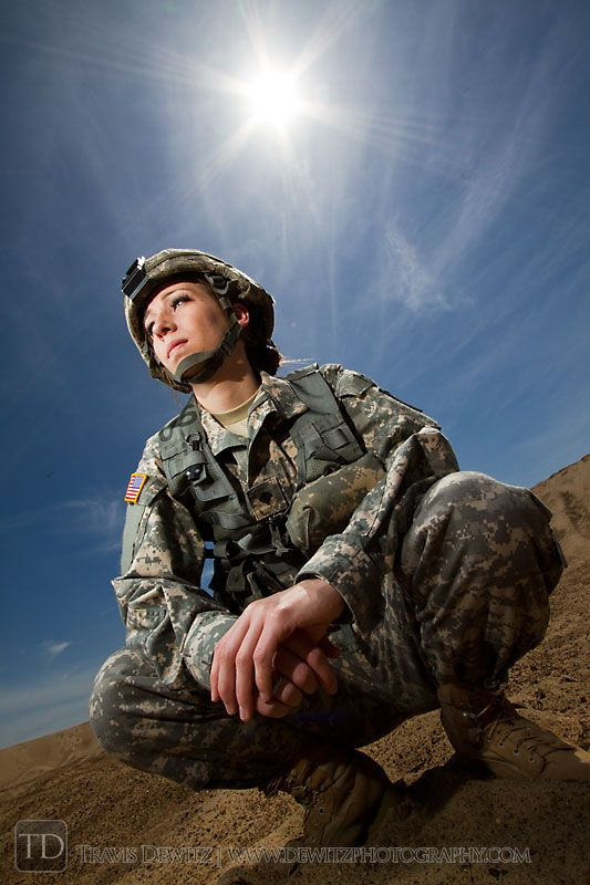 Female United States Army Soldier. I look up to females in the army so much and it makes me want to join.