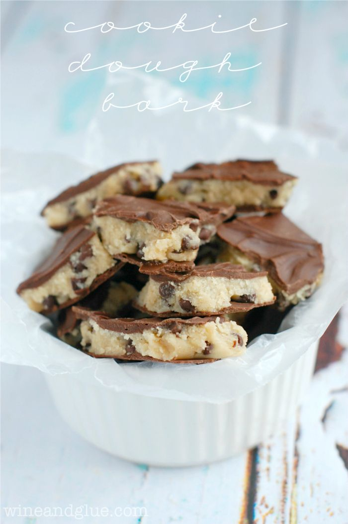 Cookie Dough Bark   Deliciously addictive cookie dough in super easy bark form!