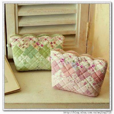 Vanecroche e patch: Necessaire patchwork com molde