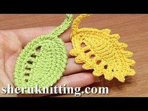 Crochet Leaf Rain Drops Tutorial 27 Reverse Single Crochet Trim Picot Trim - YouTube