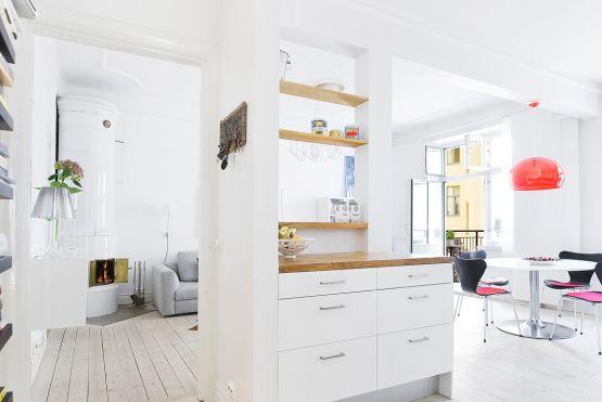 73 m² de estilo nórdico de planta abierta