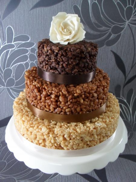 Exceptional The Cake House Rice Krispie Wedding Cake Pictures Of Bespoke Wedding Cakes