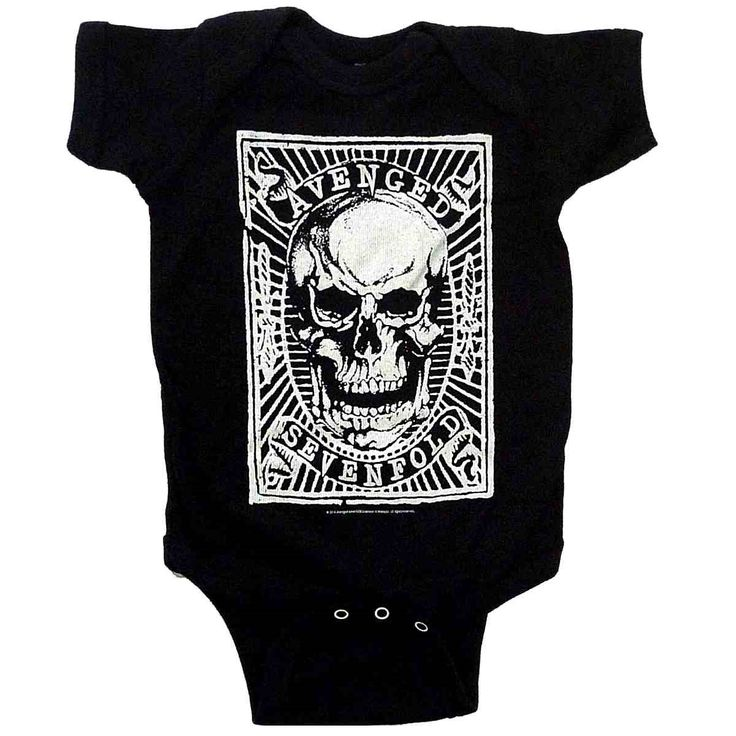 Avenged Sevenfold Skull Patch Baby Onesie Bodysuit