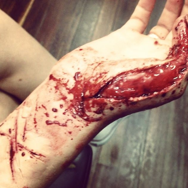 Special effects makeup by jacqueline priem  Wound, blood, cuts, injury
