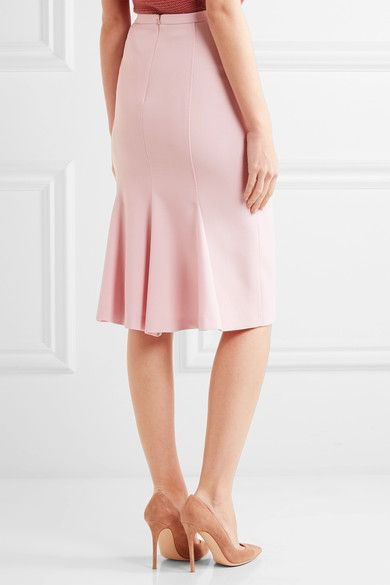 Max Mara - Bugia Stretch-wool Pencil Skirt - Pink - UK16