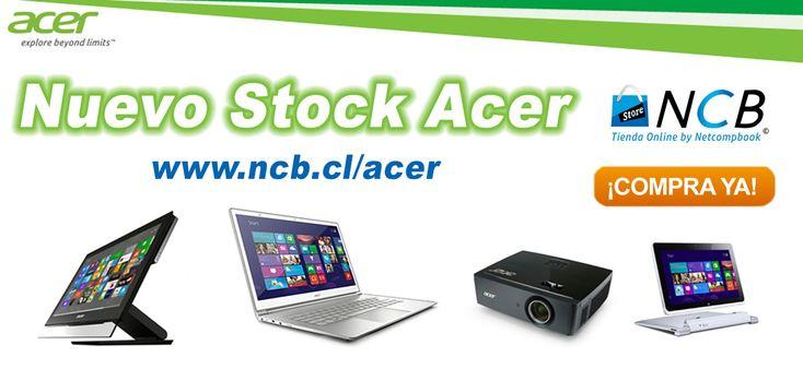 ¡Llegó nuevo Container de Productos Acer! Apúrate antes que se agote: www.ncb.cl/acer  Realiza tus consultas por mensaje interno, al WhatsApp: +569-93936049 o al e-mail: ventas@ncb.cl.  NCB STORE CHILE