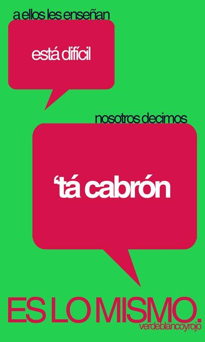 es lo mismo.-proper spanish vs. ghetto trashy spanish