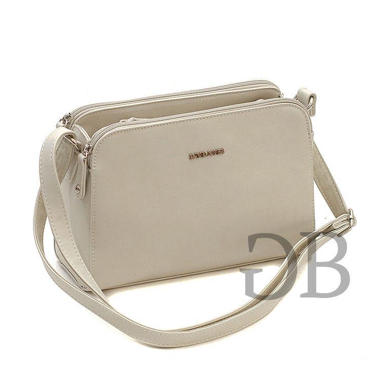 Купить сумку CM3348 Бежевый CM3348-beige - Сумочки через плечо - Французские сумки David Jones - Купить брендовые сумки