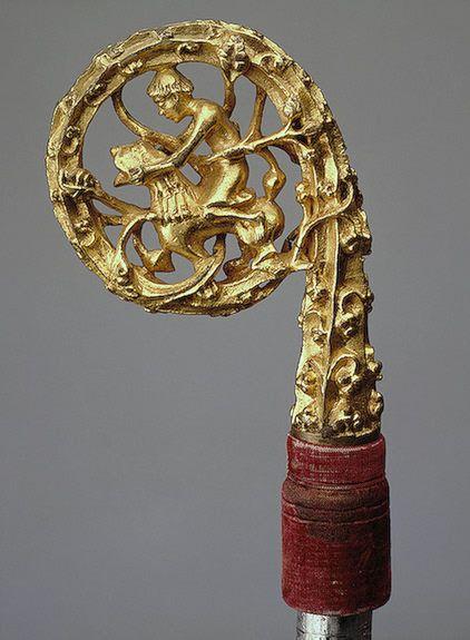 Riccio di pastorale con Davide e il Leone. Germania, seconda meta dellXI secolo.