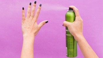 Use Hair Spray to dry nails faster
