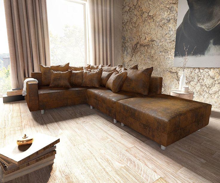 die besten 25 sofa leder braun ideen auf pinterest. Black Bedroom Furniture Sets. Home Design Ideas