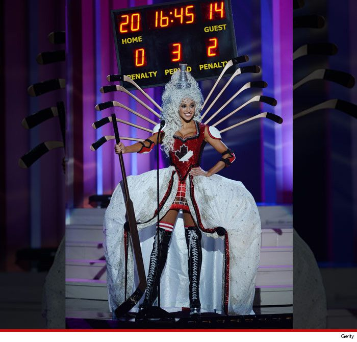 Miss Canada: Hockey stereotype? What hockey stereotype??! #LOL #MissUniverse