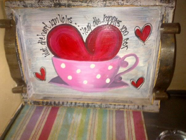 Tray decorating the Scullery area - Afrikaans, frothy and delightful