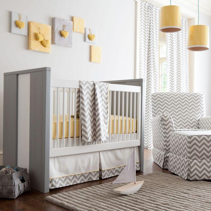 Gray and Yellow Zig Zag Nursery by Carousel Designs - contemporary - kids - atlanta - Carousel Designs