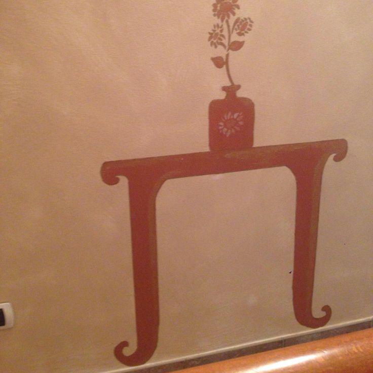 Disegno su parete con acrilico