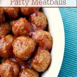 Crock-Pot Tangy Cranberry Party Meatballs – Everyone needs a good go-to meatball recipe for holidays and parties. This recipe for Crock-Pot Tangy Cranberry Party Meatballs fits that bill perfectly! Just 3 ingredients and you have tasty meatballs your guests will love! [Gluten Free, Low Calorie & Low Fat] | CrockPotLadies.com