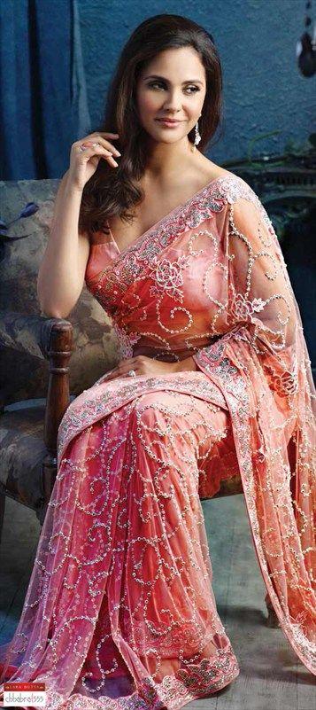 111213: Lara Dutta's own saree collection. Check out this Swarovski work saree & shop.