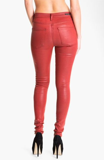 Citizens of Humanity 'Rocket' Skinny Faux Leather Jeans (Vamp Red) | #Nordstrom #falltrends