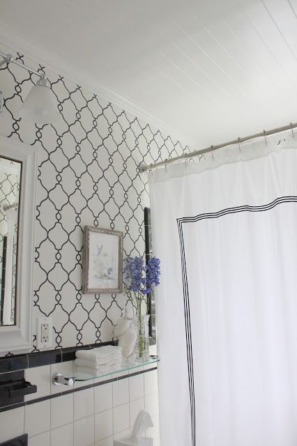 COTTAGE AND VINE: Bathroom Updates | Wallpaper by Walls Republic