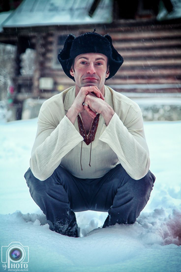 русская зима, фотосессия, мужской портрет