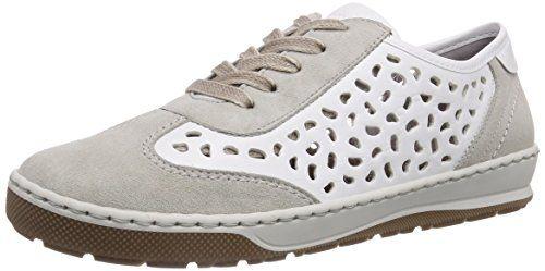 Jenny Dublin, Damen Sneakers, Grau (kiesel,weiss 05), 37.5 EU - http://on-line-kaufen.de/jenny/37-5-eu-jenny-dublin-damen-sneakers