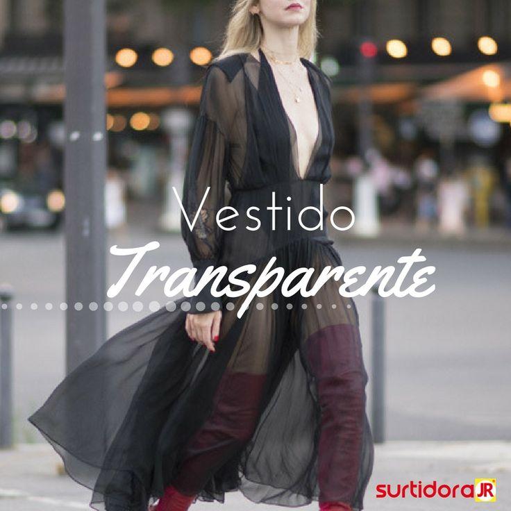 ¡Vestido transparente! Se trata más de sugerir que de enseñar, el truco esta en usar lencería bella y costuras en lugares precisos ¡Te animas!