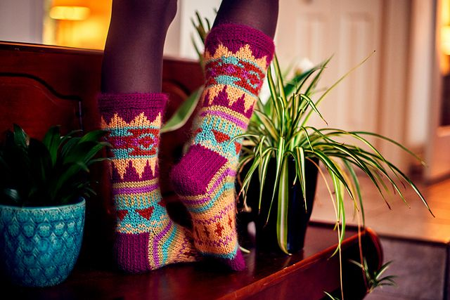 Ravelry: Aztec Socks pattern by AbbyeKnits