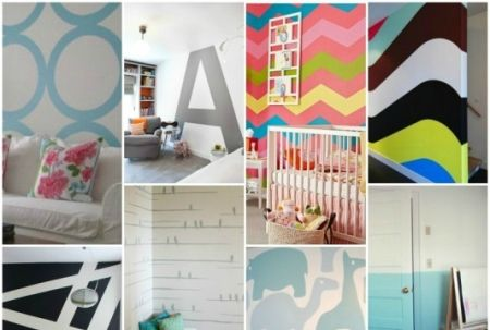 Как сделать рисунки на стенах в квартире своими руками: мастер-класс с пошаговыми фотографиями
