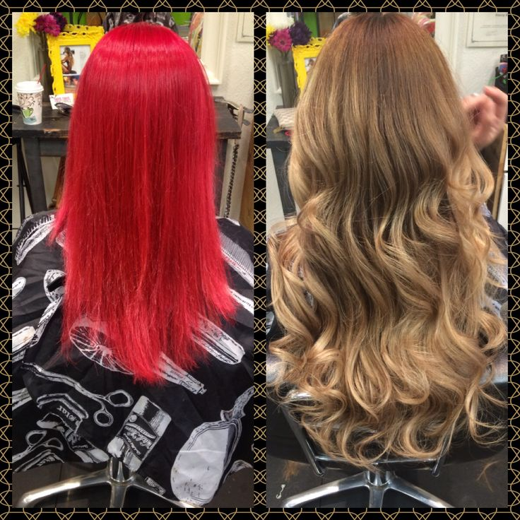 Before And After Major Color Correction From Bright Red To Natural