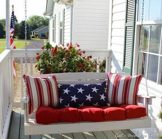 Patriotic Porch Decor !