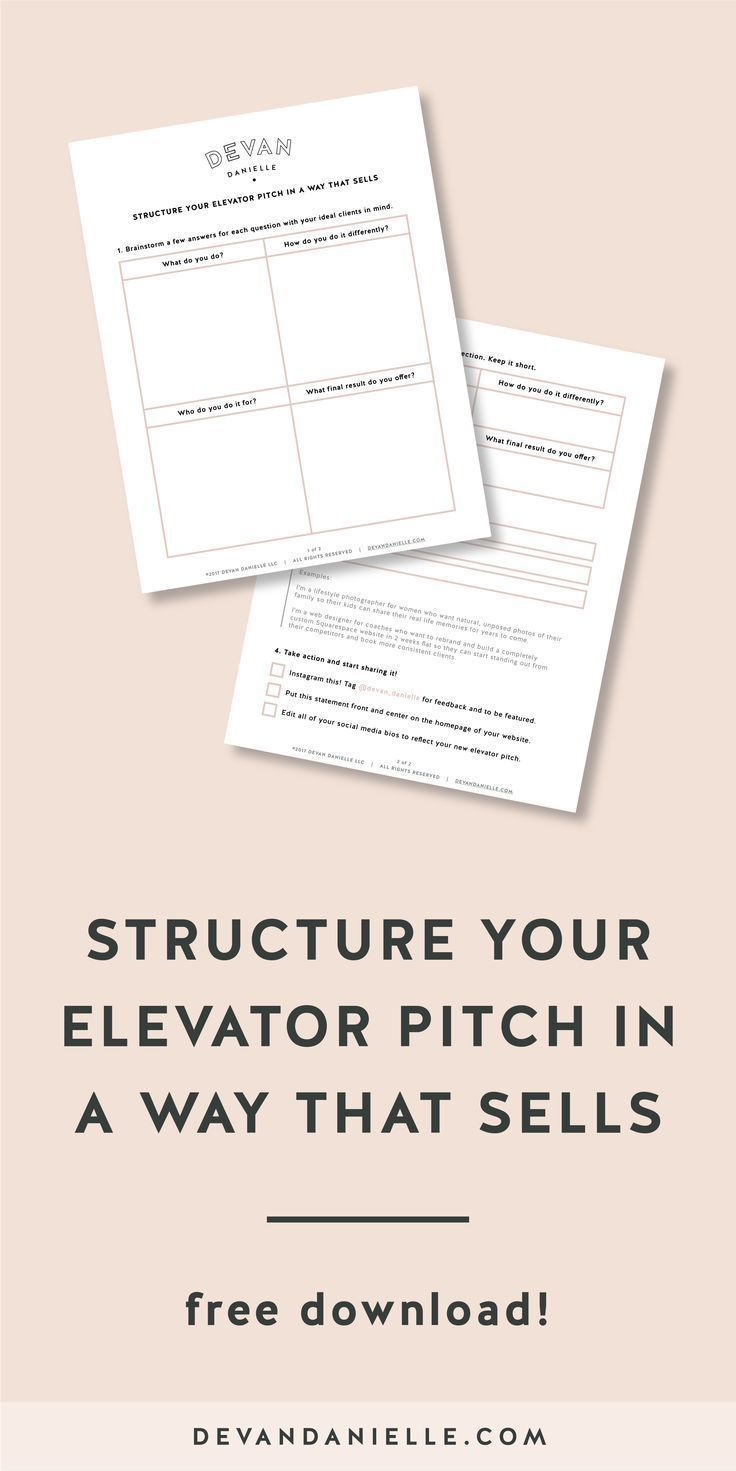 Structure Your Elevator Pitch In A Way That Sells Devan Danielle Business Coach For Creatives Business Management Degree Management Degree Business Management
